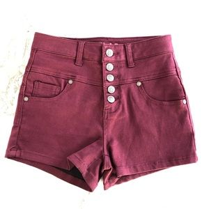 Delia's Skylar High Waisted Button Fly Shorts XS